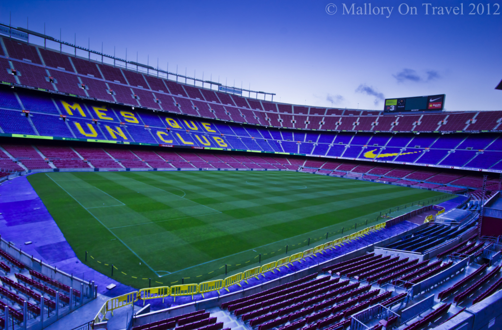 Nou Camp, FC Barcelona in Catalunya on Mallory on Travel adventure photography