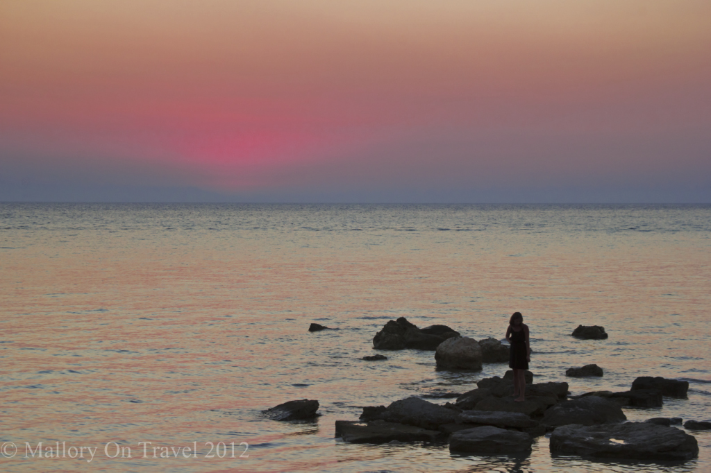 Sunset at the Sani Hotel Resort in Halkidiki, Greece on Mallory on Travel adventure photography
