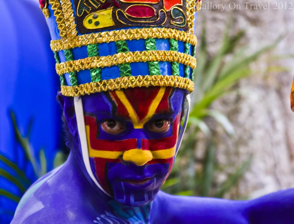 Honduran in full costume at ITB Berlin, German