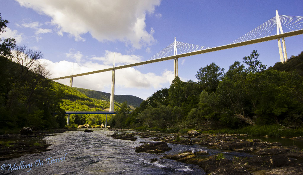 The Millau Viaduct over the Tarn River in the French Aveyron on Mallory on Travel adventure photography