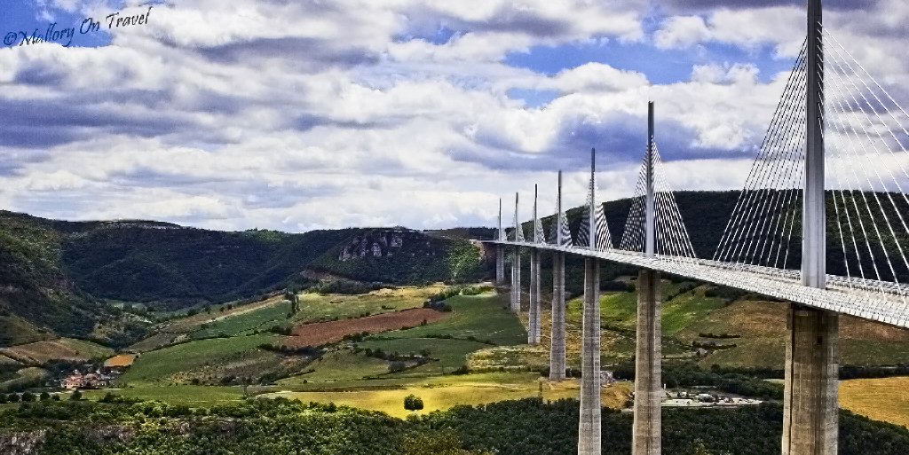 The Millau Viaduct spans the Tarn River the French Aveyron on Mallory on Travel adventure photography