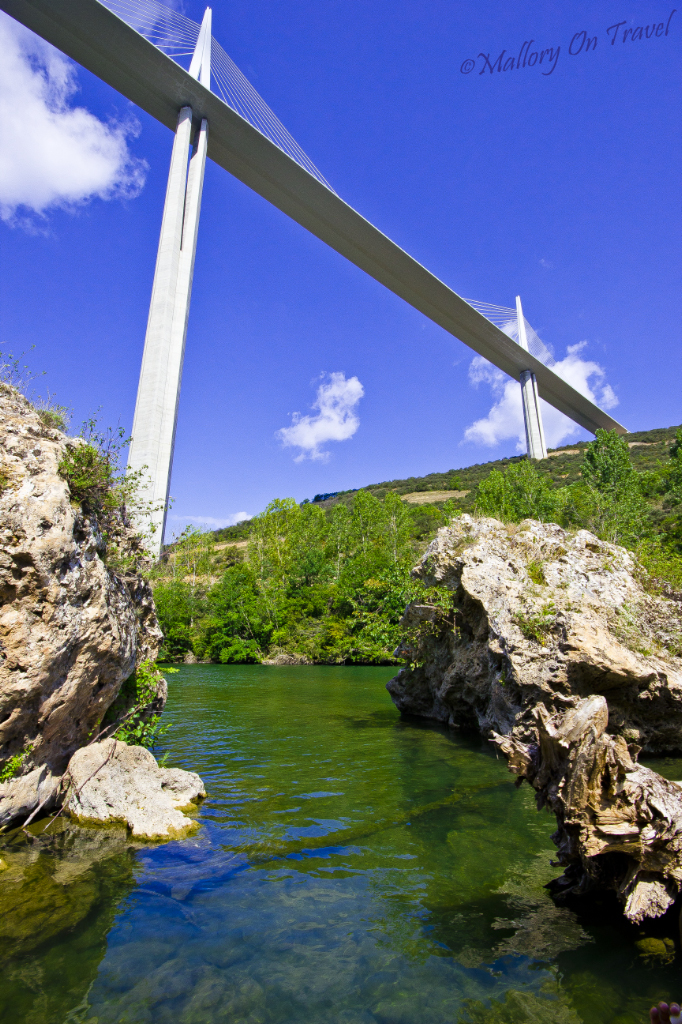 The Millau Viaduct from the Tarn River in the French Aveyron on Mallory on Travel adventure photography
