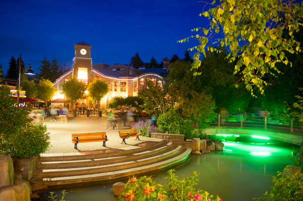 Whistler at night in British Columbia, Canada on Mallory on Travel adventure photography