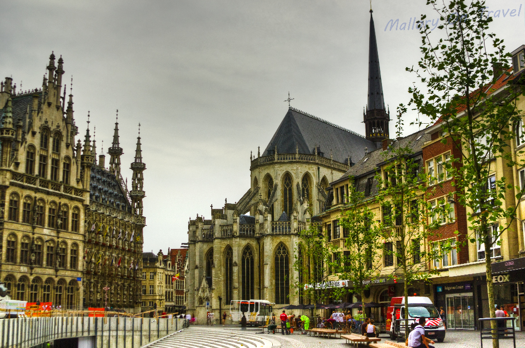The city centre of Leuven in the Flanders region of Belgium on Mallory on Travel adventure photography