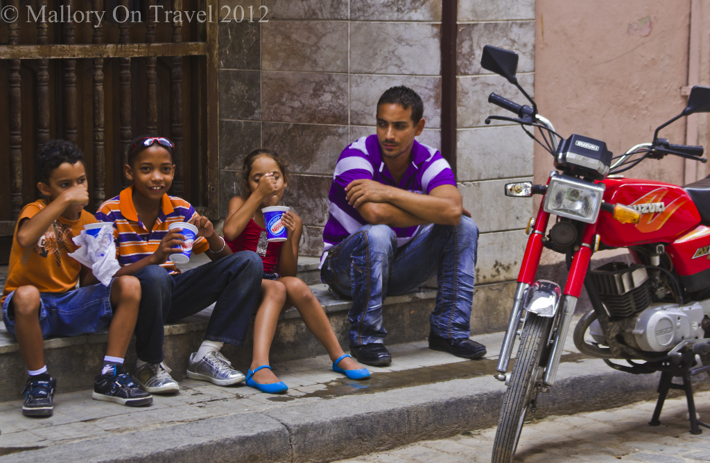 Ice-cream loving children in Havana, Cuba in the Caribbean on Mallory on Travel adventure photography