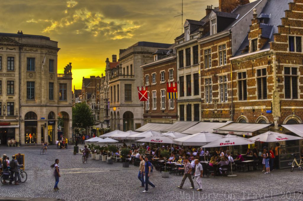 The main square of Leuven in the Flanders region of Belgium on Mallory on Travel adventure photography