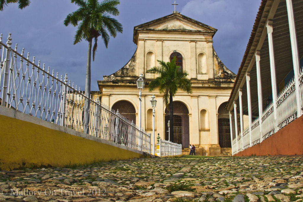 The Church of the Holy Trinity in the Plaza Mayor of Trinidad, Cuba in the Caribbean on Mallory on Travel adventure photography
