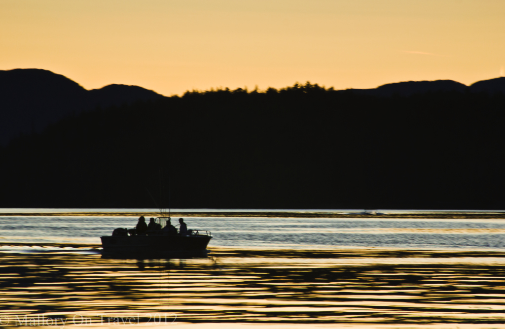 Sunset and wilderness of the Great Bear Rainforest of British Columbia in Canada on Mallory on Travel adventure photography