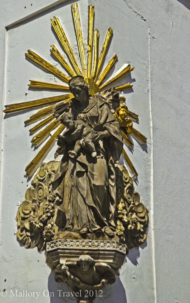 Baroque statuettes in Antwerp, Flanders region of Belgium on Mallory on Travel adventure photography