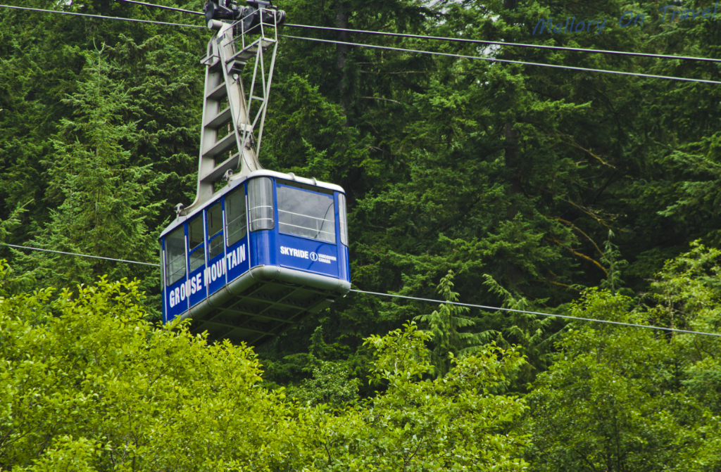 Service gondola on Grouse Mountain near Vancouver, British Columbia, Canada on Mallory on Travel adventure photography