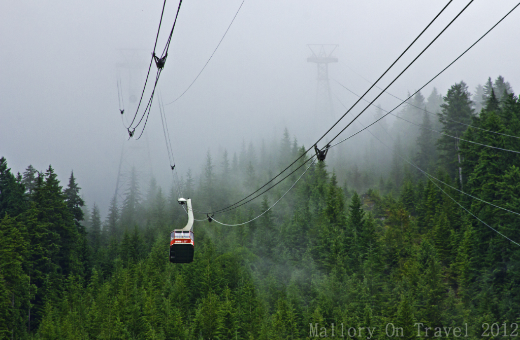 Grouse Grind and Mountain cablecar near Vancouver, British Columbia, Canada on Mallory on Travel adventure photography