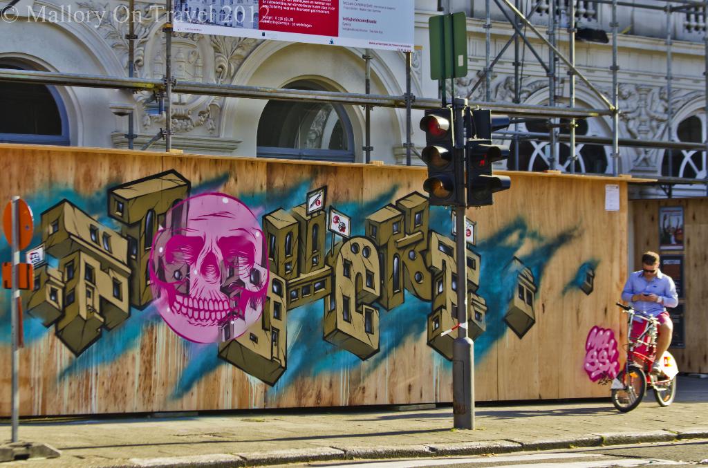 Street art in the city centre of Antwerp in the Flanders region of Belgium on Mallory on Travel adventure photography