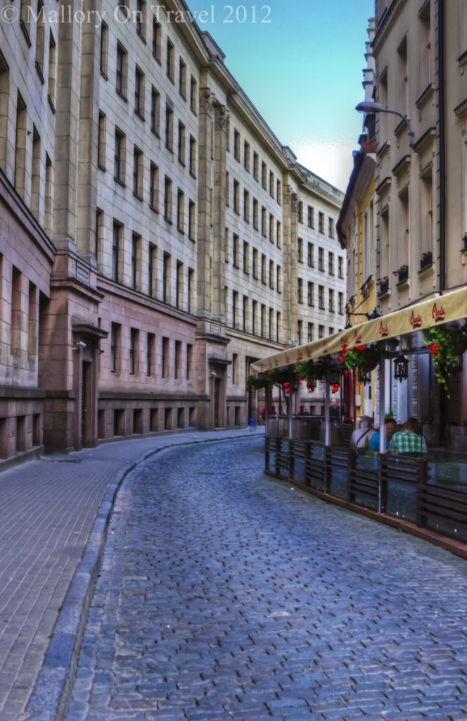 A quiet street in Riga the capital city of the Baltic state of Latvia on Mallory on Travel adventure photography