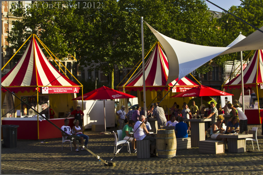 The beer festival in the city centre of Antwerp in the Flanders region of Belgium on Mallory on Travel adventure photography