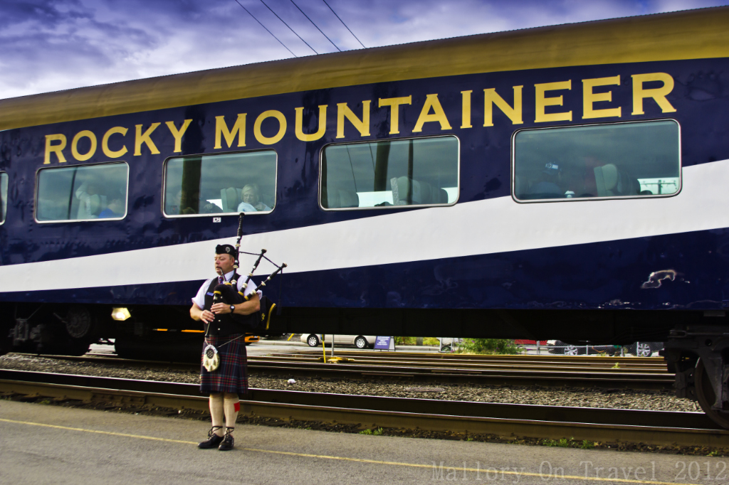 Boarding the Rocky Mountaineer from Vancouver to Whistler in British Columbia, Canada on Mallory on Travel adventure photography