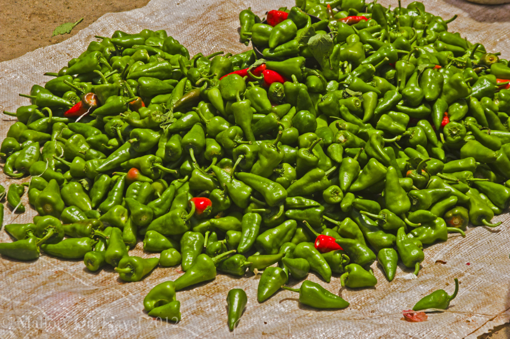 Chillies on the Caribbean island of Cuba on Mallory on Travel adventure photography
