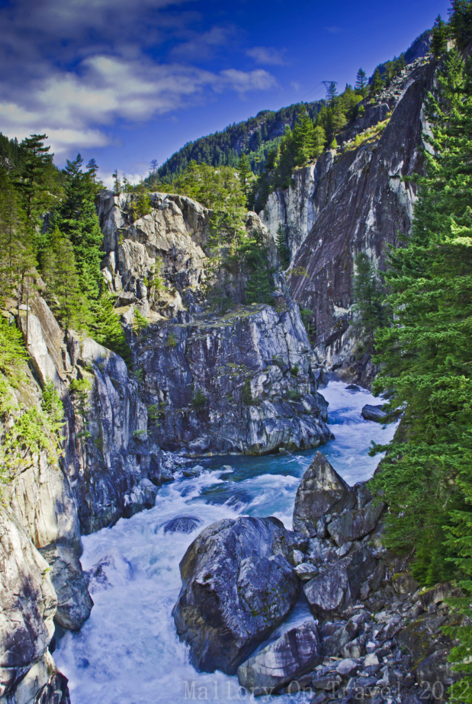 The scenic Rocky Mountaineer route from Vancouver to Whistler in British Columbia, Canada on Mallory on Travel adventure photography