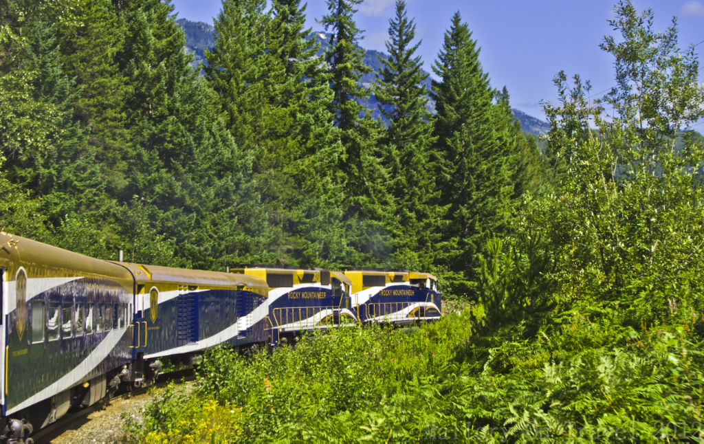 The photogenic Rocky Mountaineer route from Vancouver to Whistler in British Columbia, Canada on Mallory on Travel adventure photography