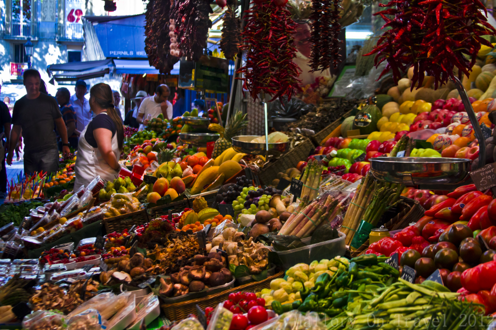La Boqueria market in Barcelona, in Catalan Spain on Mallory on Travel adventure photography