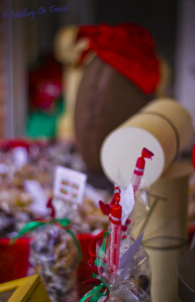 Sweet shop in Montauban, the Aveyron region of France on Mallory on Travel adventure photography