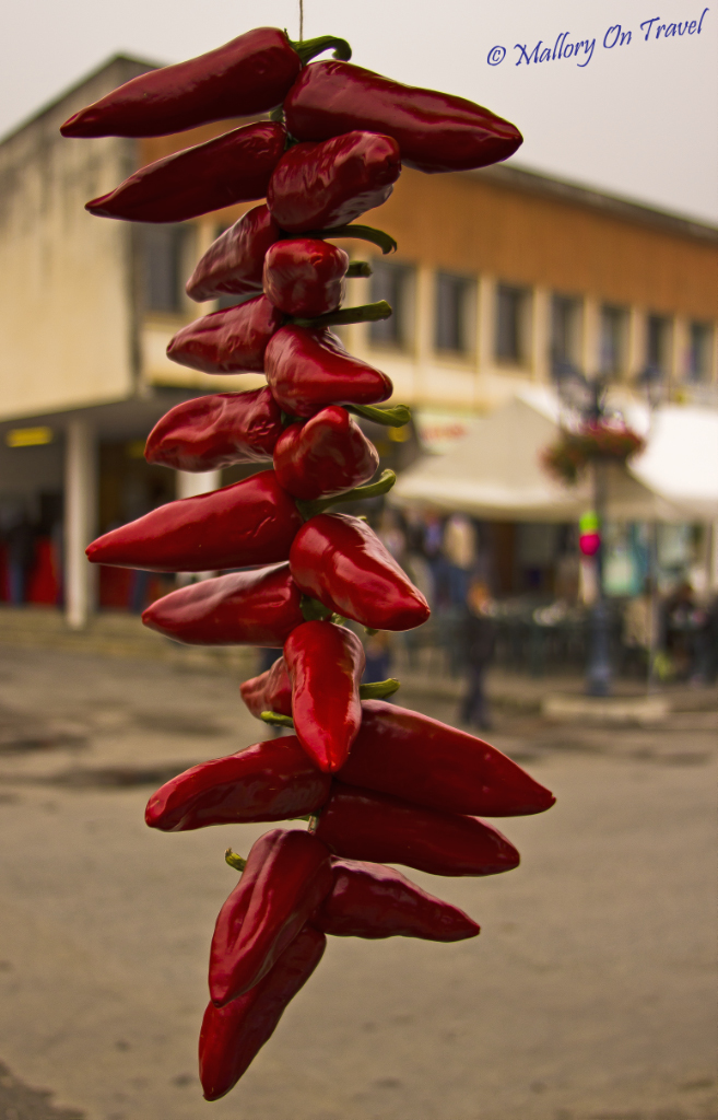 Hanging chillies in the Val d'Azun, French Pyrenees on Mallory on Travel adventure photography