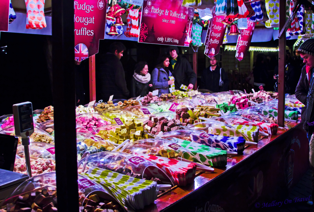 The goodies at Manchester Christmas market on Mallory on Travel adventure photography
