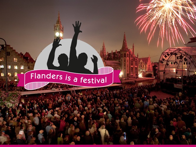 Flanders is a Festival Banner from the regional tourism board on Mallory on Travel adventure photography