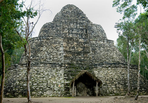 Xaibe Pyramid, Coba, on the Riviera Maya, on the Mexico on Mallory on Travel adventure photography