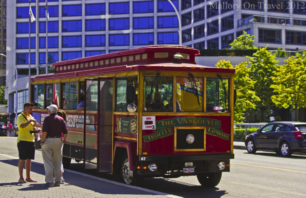 The touring bus trollies of Vancouver, British Columbia in Canada on Mallory on Travel adventure photography
