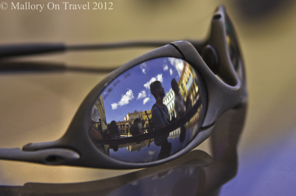 Sunglasses in the Cuban capital of Havana in the Caribbean  on Mallory on Travel adventure photography