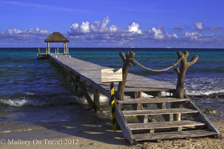 Jetty into the Caribbean at Viceroy Riviera Maya in Mexico on Mallory on Travel adventure photography