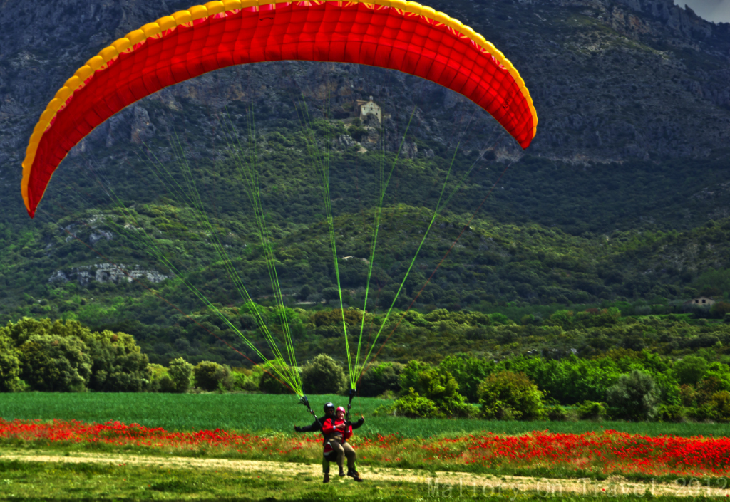 Parapenting in the Catalan, the Pyrenean range in Spain on Mallory on Travel adventure photography
