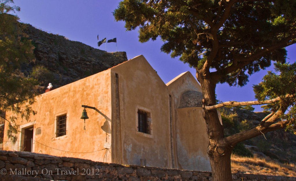 The small chapel on Spinalonga, an island near Elouda on Crete, Greece on Mallory on Travel adventure photography