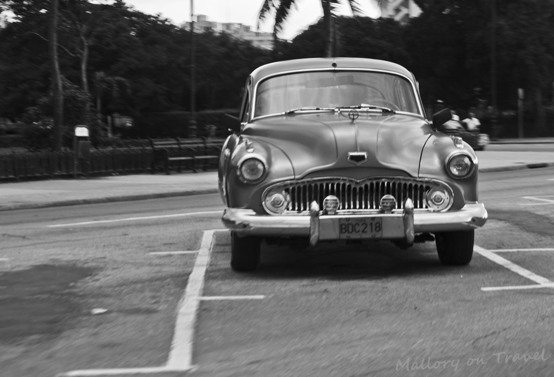 A classic cacharro or car in Havana the Cuban capital city on Mallory on Travel adventure photography