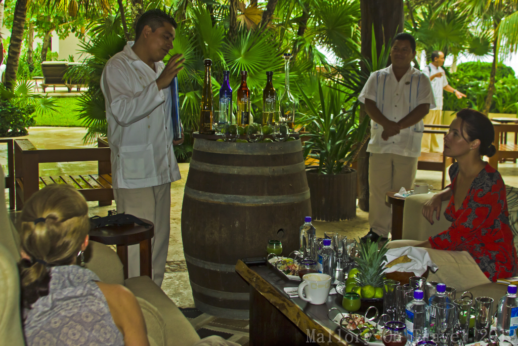 Taking it all in at the tequila tasting in Riviera Maya on the Mexican coast of the Caribbean on Mallory on Travel adventure photography