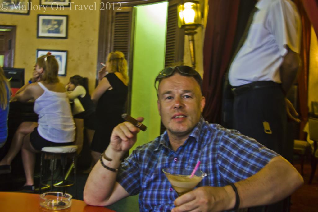 Hemmingway's favourite bar La Floridita in Havana, Cuba on Mallory on Travel adventure photography