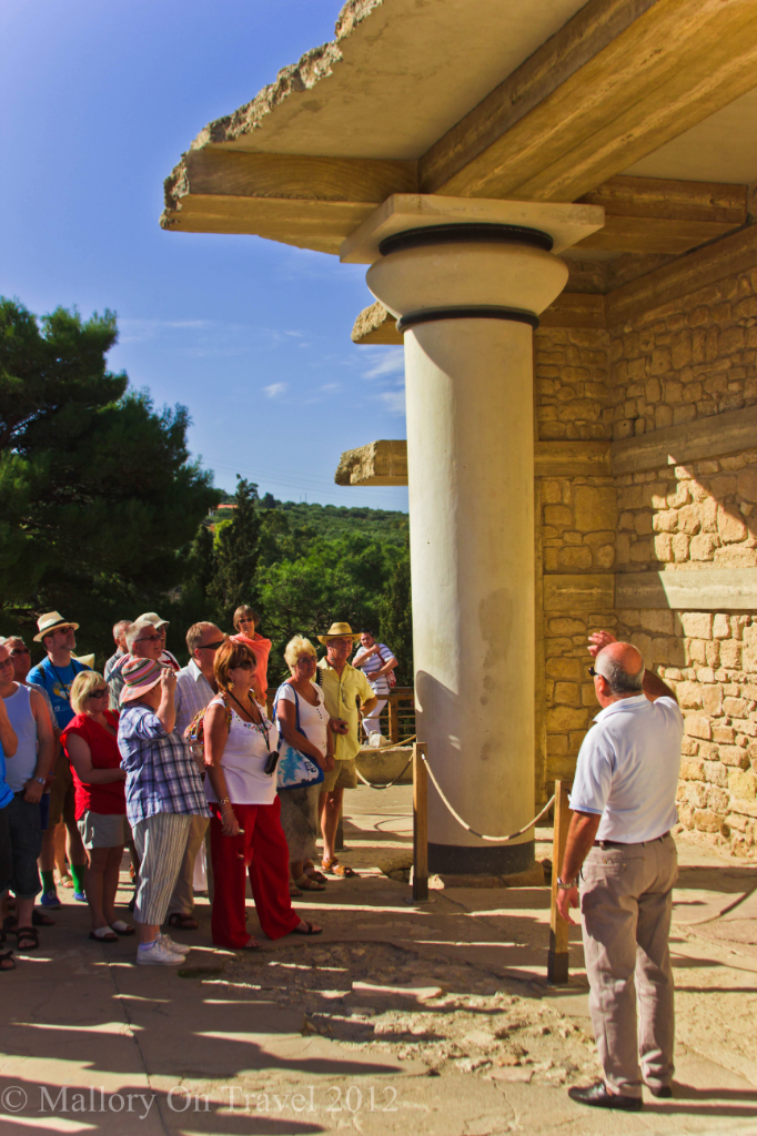 Avoiding the crowds at the Minoan Palace at Knossos near Heraklion on the Mediterranean island of Crete, Greece on Mallory on Travel adventure photography