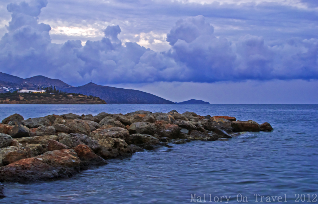 A breakwater at the resort of Agios Nikolaos on Crete, Greece on Mallory on Travel adventure photography