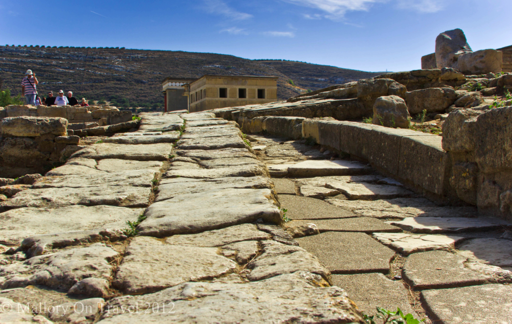 Tour on the ancient Minoan road at Knossos near Heraklion on the island of Crete, Greece Copyright © Mallory on Travel 2012