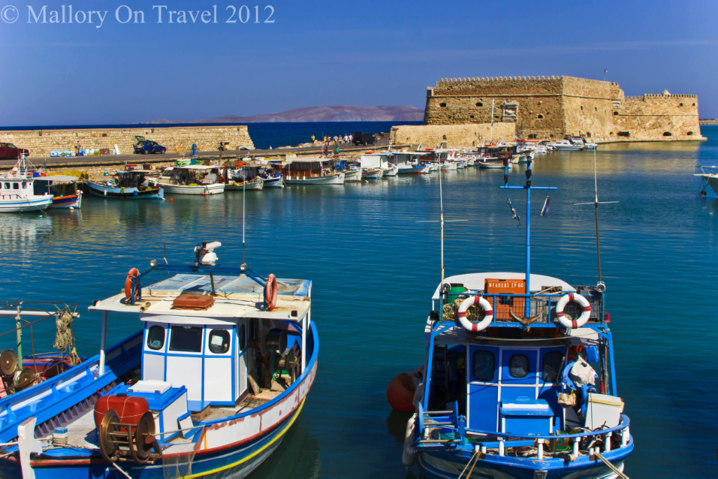 Tour in the harbour at Heraklion capital city of Crete, Greece Copyright © Mallory on Travel 2012
