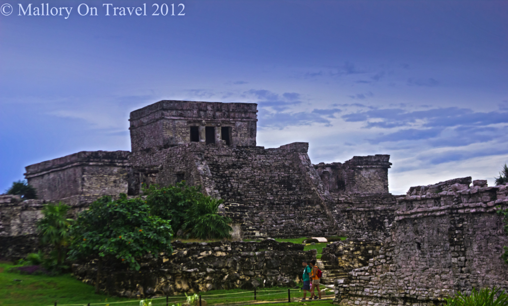 Pyramid El Castillo at Tulum in the Riviera Maya on the coast of Mexico  on Mallory on Travel adventure photography