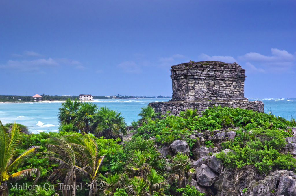 Templo Dios del Viento at Tulum in the Riviera Maya, Mexico Copyright © Mallory on Travel 2012