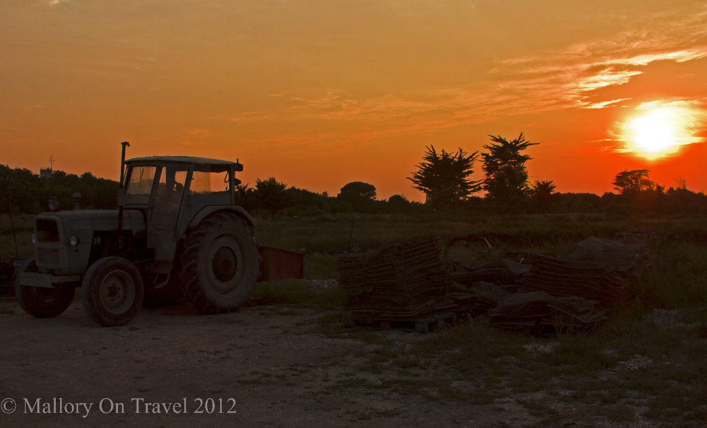 Sunset on Île-d'Aix in the Charente-Maritime region of France on Mallory on Travel adventure photography
