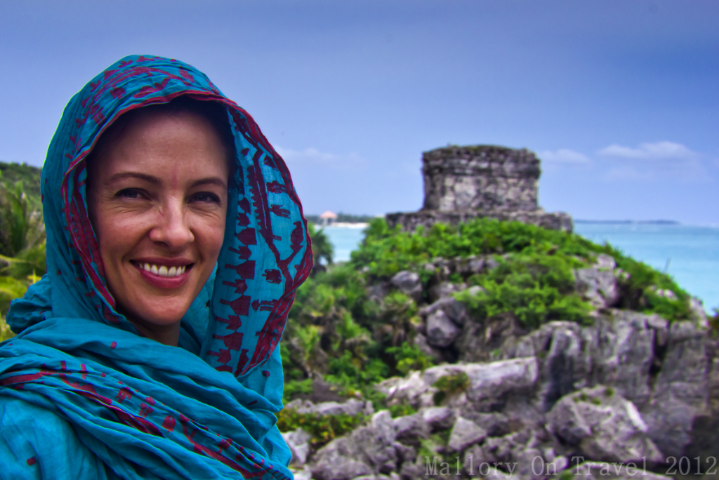 God of Winds Temple at Tulum in the Riviera Maya on the Mexican coast on Mallory on Travel adventure photography