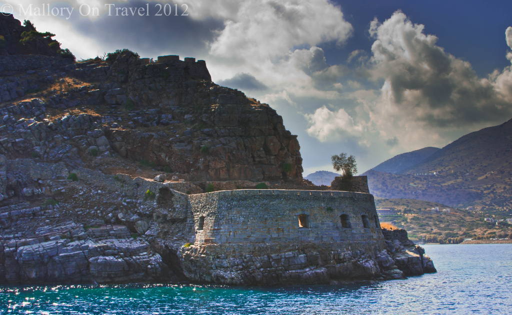 The fortified ramparts of the Cretan island of Spinalonga near Elouda in Greece on Mallory on Travel adventure photography