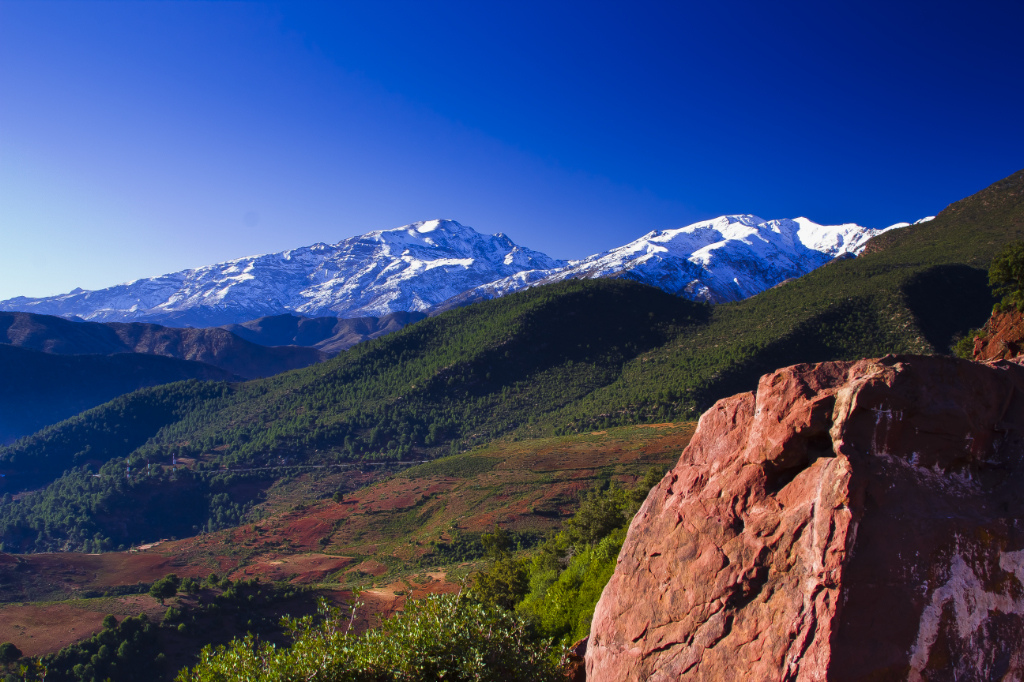 The High Atlas Mountain peaks of North African Morocco on Mallory on Travel adventure photography