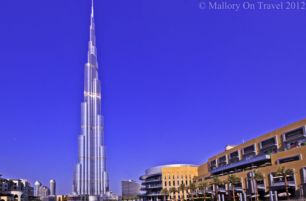 The Burj Khalifa tallest building in the world in the emirate of Dubai in the United Arab Emirates on Mallory on Travel adventure photographyIain Mallory-300-4
