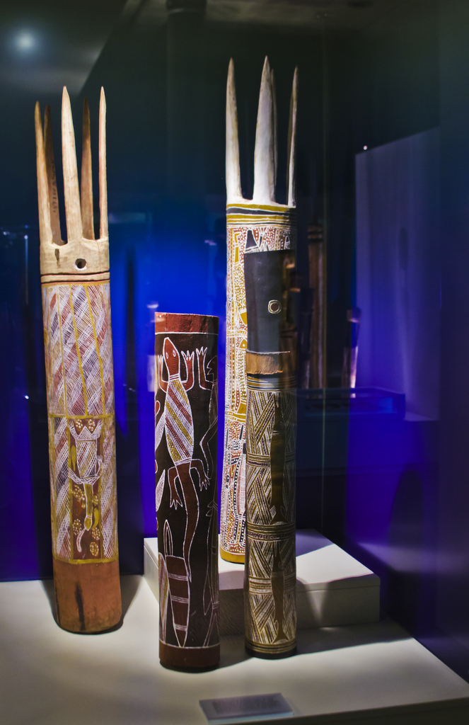 Indigenous Culture; Mini-totems the South Australia Museum in Adelaide on Mallory on Travel adventure photography Iain Mallory-300-64