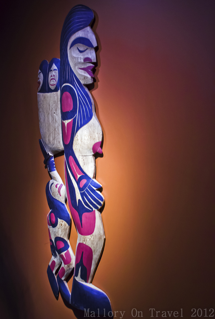 Indigenous Culture; Tribal art in the Squamish Lil'wat Cultural Centre in Whistler, British Columbia, Canada on Mallory on Travel adventure photography Iain Mallory-300-167