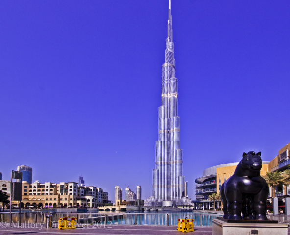 The world's tallest existing builiding the Burj Khalifa in the Emirate of Dubai on Mallory on Travel, adventure, adventure travel, photography Iain Mallory-300-3 -Burj Khalifa